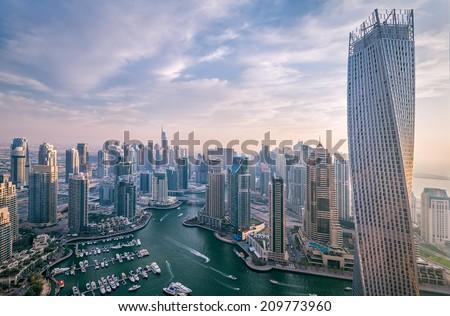Dubai marina - stock photo