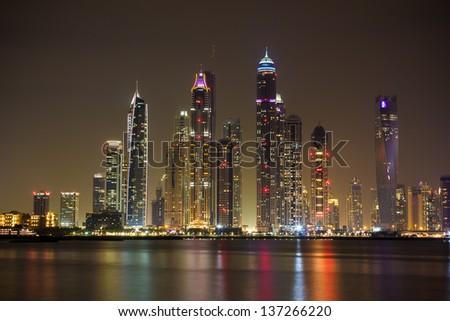Dubai Marina Dubai 2014 - stock photo