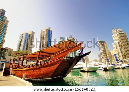 Dubai marina ,UAE - stock photo