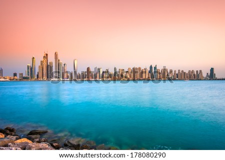 Dubai Marina. UAE - stock photo