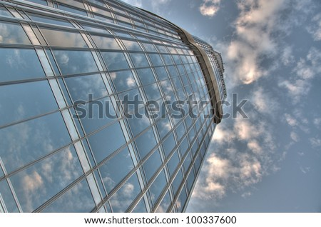 DUBAI - NOVEMBER 5: View of Burj Khalifa from the top visitor level on November 5, 2011 in Dubai, United Arab Emirates. Burj Khalifa is the tallest building in the world at 2,723 ft. - stock photo