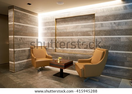 DUBAI, UAE - APRIL 09, 2016: inside of Emirates Business Lounge. Emirates is an airline based in Dubai, United Arab Emirates. It is the largest airline in the Middle East - stock photo