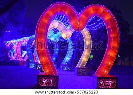 DUBAI, UAE   DEC 8: Dubai Garden Glow In Dubai, UAE, As