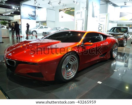 DUBAI, UAE - DECEMBER 19: BMW Homage M1 on display during Dubai Motor Show 2009 at  Dubai Int'l Convention and Exhibition Centre December 19, 2009 in Dubai, United Arab Emirates.