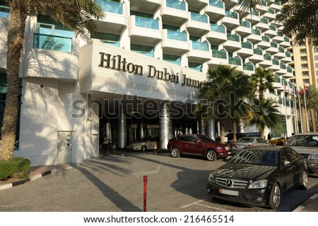 DUBAI, UAE - FEB 16: Hilton Dubai Jumeirah Hotel. February 16, 2009 in Dubai, United Arab Emirates - stock photo