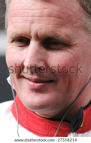 DUBAI, UAE - FEBRUARY 27: Speedcar Series driver Johnny Herbert, ex-F1, at Dubai Autodrome. during round 4 of the Speedcar Series Championship held in Dubai, UAE on Feb. 27, 2009..
