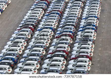 New Cars Ready Ship Port Rashid Stock Photo 740565676 Shutterstock