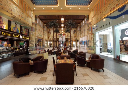 DUBAI, UAE - MAY 29: Interior of the Ibn Battuta Mall in Dubai. May 29, 2011 in Dubai, United Arab Emirates