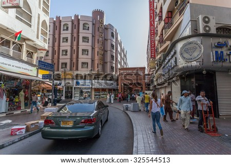 DUBAI, UAE - MAY 14: The Madinat Souk at Madinat Jumeirah Hotel on May 14, 2014 in Dubai. The traditional Arabian souk is a shopping paradise located in one of the Jumeirah Group's flagship resorts.
