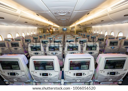 Airbus a380 ife stock images royalty free images for Airbus a380 emirates interior