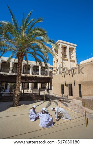DUBAI, UAE-NOVEMBER 9, 2013: Heritage Village. It is the largest historical museum in Dubai.
