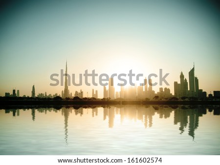 Dubai, United Arab Emirates. Beautiful beach and sea - stock photo