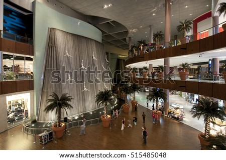 Dubai, United Arab Emirates. December 14 2010. The indoor of  shopping center