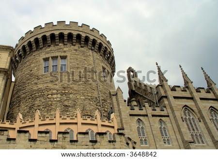 Dublin Castle 1 - stock photo