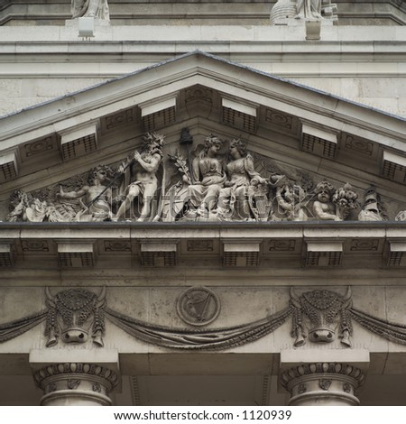 Dublin, Ireland - Custom House pediment of sculptures