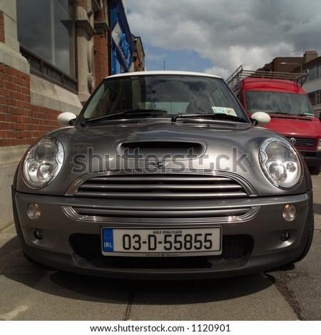 Dublin, Ireland – front of car - stock photo