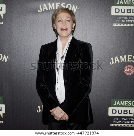 DUBLIN, IRELAND - MARCH 2015: Actress Julie Andrews attends a special screening of The Sound of Music at the Jameson Dublin International Film Festival.