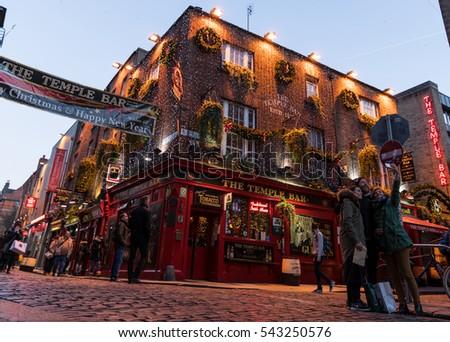 Dublin Ireland 26th Dec 2016 Temple Stock Photo 543250576 ...