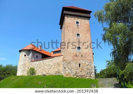 Dubovac Castle in Karlovac, Croatia - stock photo