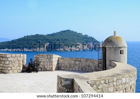Dubrovnik city wall, Croatia - stock photo