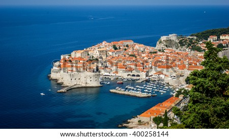 DUBROVNIK, CROATIA - CIRCA JUNE 2014: Panoramic View