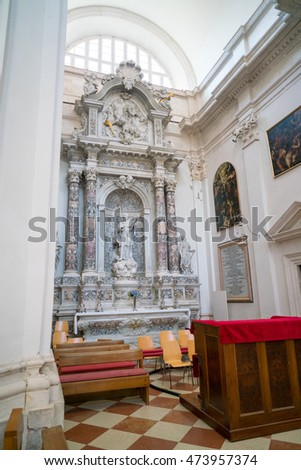Dubrovnik, Croatia - July 19, 2016: Assumption of the Virgin Mary Cathedral