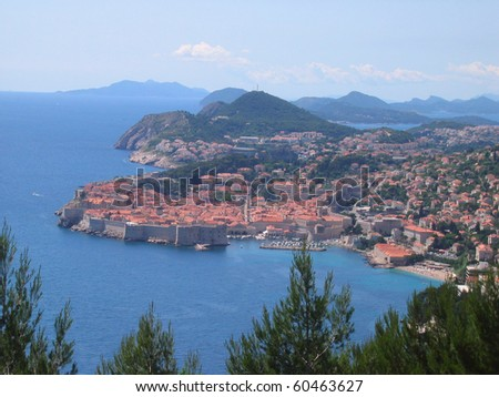 Dubrovnik Fortress - in the south of Croatia - stock photo