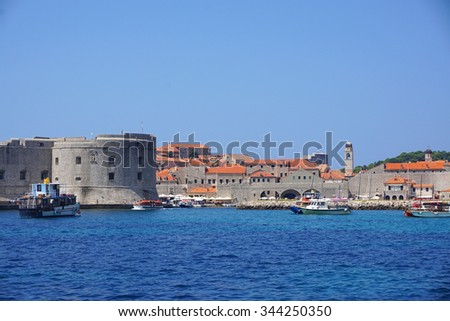 Dubrovnik, old city, mediterranean, architecture, old town, tourism, croatia, sport, fun, speed, boat, tourist boat, summer