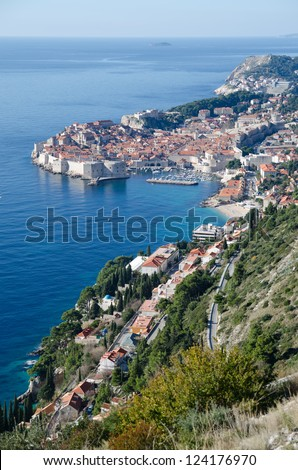 Dubrovnik - Old town, Adriatic sea, Croatia - stock photo