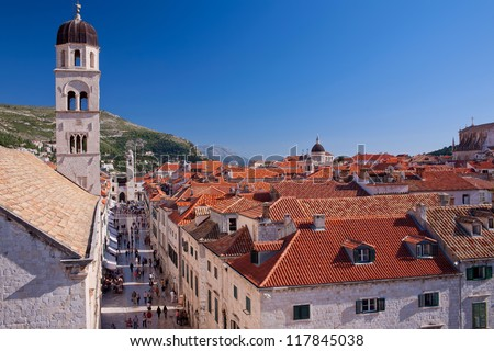 Dubrovnik old town cityscape, Croatia - stock photo