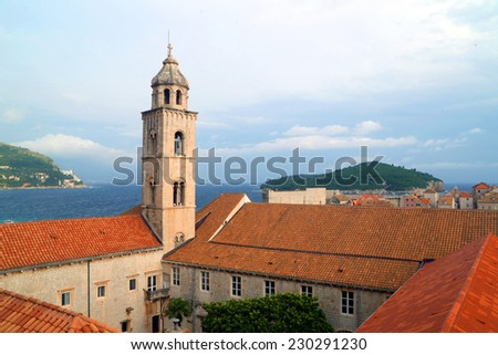 Dubrovnik Old Town roofs - stock photo