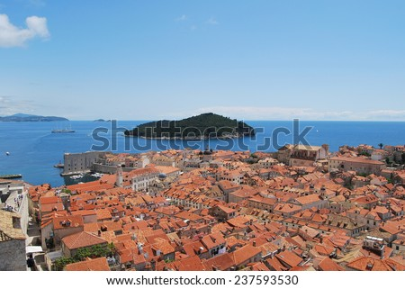 Dubrovnik seen from above - stock photo