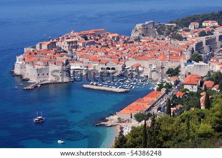 Dubrovnik, The Fortress In Mediterranean Sea