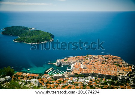 Dubrovnik. top view - stock photo