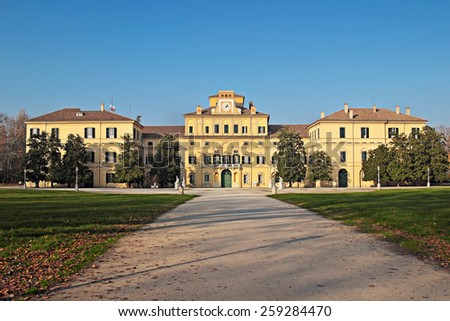 Ducal garden's palace in Parma, Italy. - stock photo