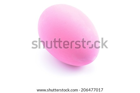 Duck egg preserved in potash or ammonia on white background