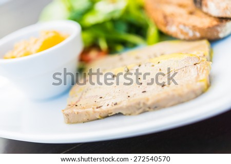 Duck Foie gras - Selective focus - stock photo