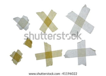 Duct tape isolated on white - stock photo