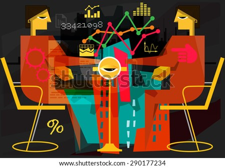 Due Diligence Abstract - Illustration - stock photo