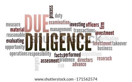 Due Diligence in word collage - stock photo