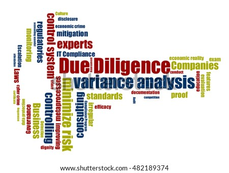 Due Diligence word cloud shaped as a key