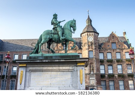 duesseldorf town hall in germany - stock photo