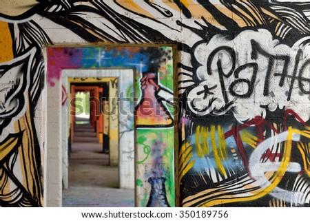 Graffiti Duisburg duisburg germany october 26 graffiti rheinpark stock photo royalty