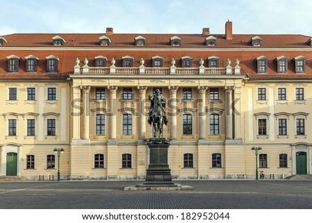 Duke Carl August monument in Weimar - stock photo