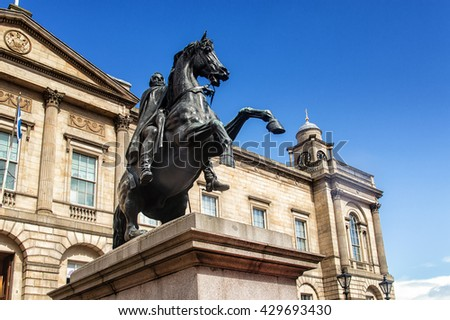 Duke of Wellington Statue in Edinburgh - Scotland