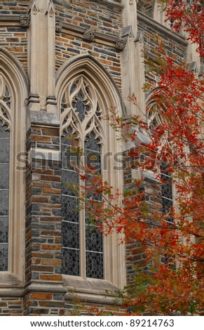 Duke University Chapel Window Detail, Durham, North Carolina. - stock photo