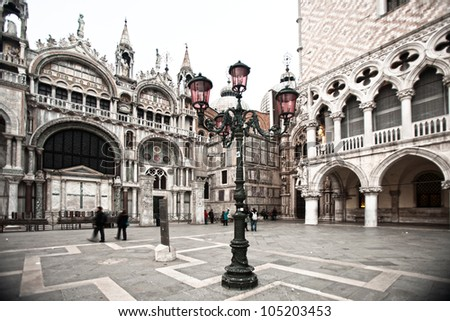 Duks palace on st. Marks square, Venice Italy