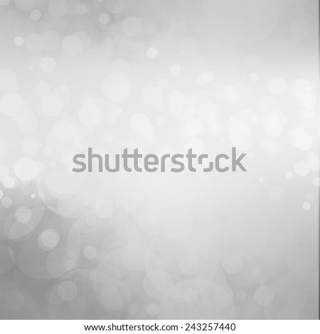 dull gray black and white background with white lights or circles scattered in random pattern across center - stock photo