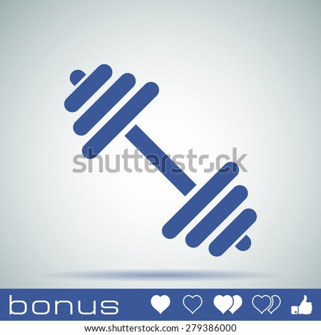 Dumbbell icon - stock photo