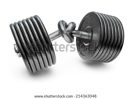 Dumbbell knot - stock photo